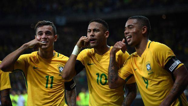 Sederet bintang menjadi salah satu alasan Brasil menjadi salah satu kandidat juara dunia.
