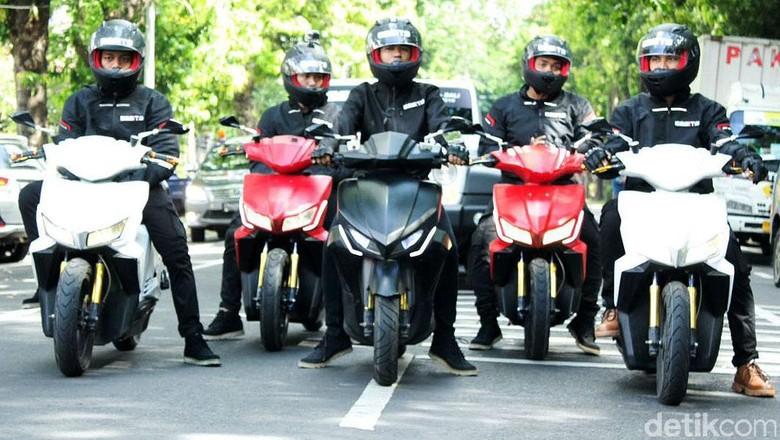 Motor listrik Gesits saat dites ke Bali (Foto: Istimewa/Garansindo)