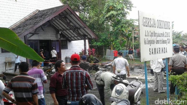 Polisi Telusuri Jaringan Pelaku Pengeboman di Depan Gereja Oikumene Samarinda