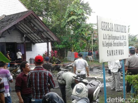 Bom Meledak di Depan Gereja Samarinda, Polri: Tetap Tenang, Jangan Terpancing