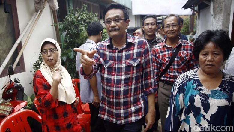 Djarot Blusukan ke Gang Sempit di Bangka