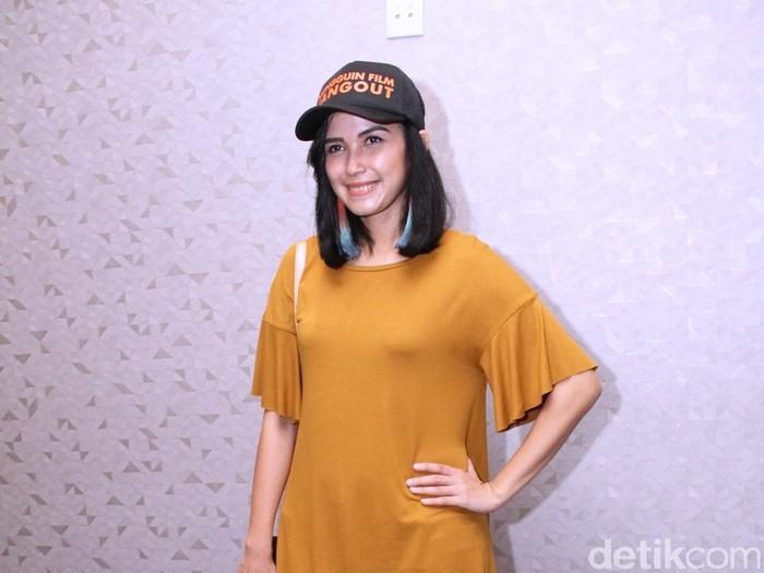 Dinda Kanya Dewi saat ditemui di kawasan cikini, Jakarta Pusat, Rabu (16/11/2016)