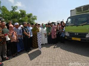 Menteri Susi Berangkatkan Bantuan 24 Ton Ikan ke 11 Daerah di Jatim