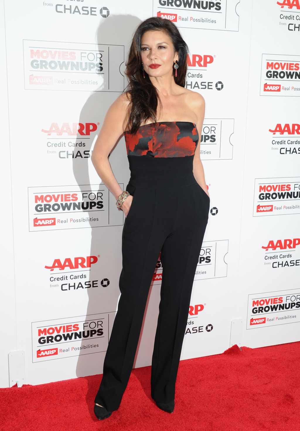 BEVERLY HILLS, CA - FEBRUARY 08:  Actress Catherine Zeta-Jones attends AARP's 15th Annual Movies For Grownups Awards at the Beverly Wilshire Four Seasons Hotel on February 8, 2016 in Beverly Hills, California.  (Photo by Joshua Blanchard/Getty Images)