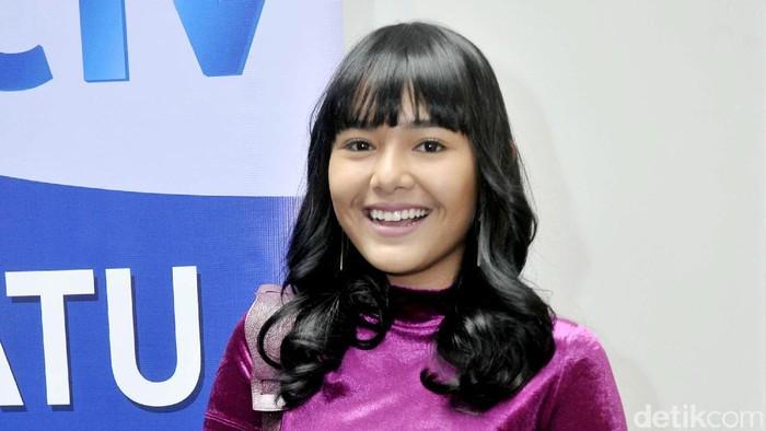 Amanda Manopo saat ditemui di kawasan Senayan.