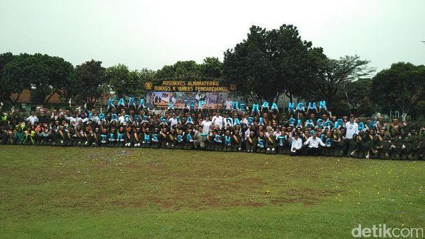 Tim Nusantara Sehat batch 5 yang dilantik hari ini (Foto: M Reza Sulaiman/detikHealth)