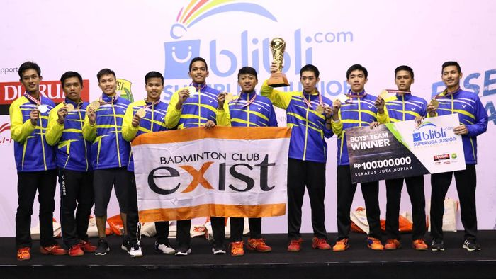 PB Exist juara Superliga Junior 2016. (PBSI)