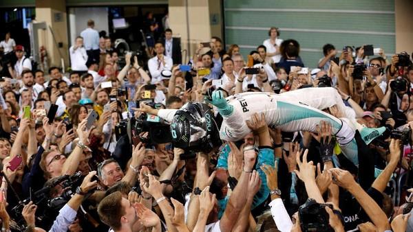 Hamilton Menangi GP Abu Dhabi, Rosberg Tetap Juara Dunia