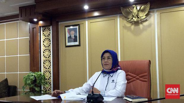 Direktur Jenderal Pembinaan Hubungan Industrial dan Jaminan Sosial Ketenagakerjaan (PHI-Jamsos) Kemenaker Haiyani Rumondang.