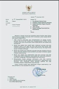 Hasil gambar untuk surat presiden