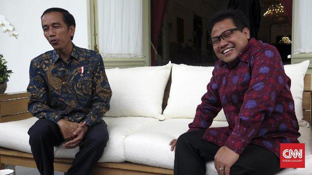 Presiden Joko Widodo dan Ketua Umum PKB Muhaimin Iskandar, di Istana Merdeka, Jakarta, beberapa waktu lalu.