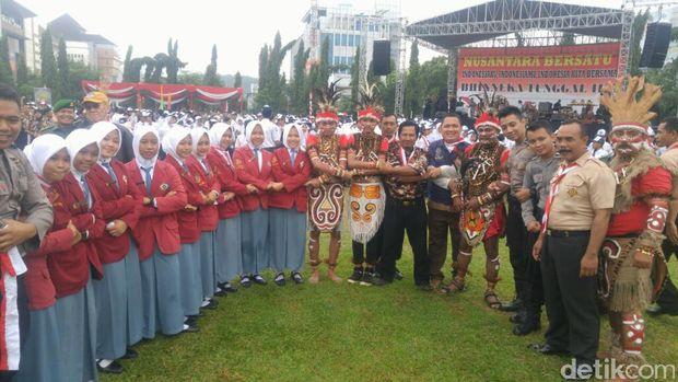 Apel juga akan diisi orasi dari Gubernur Jawa Tengah Ganjar Pranowo.