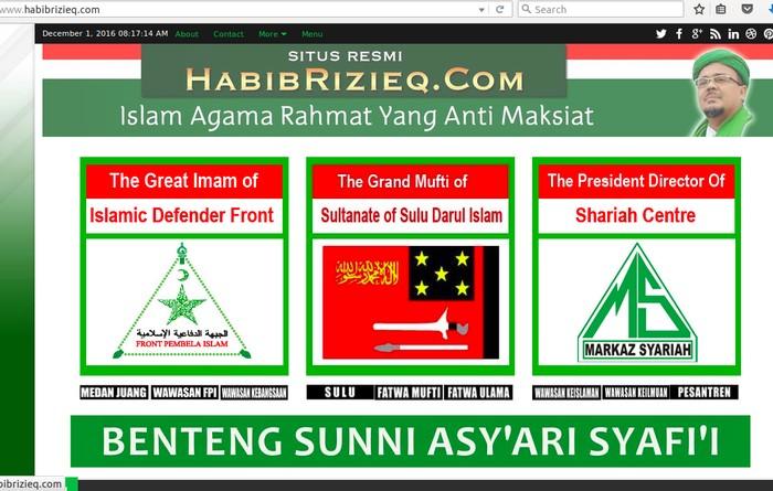 Foto: Screenshot Habibrizieq.com