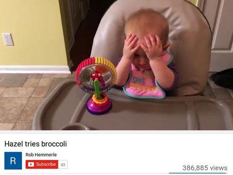 Lucu dan Menggemaskan! Ekspresi Bayi Saat Coba Makan Brokoli