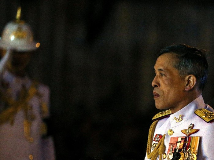 Thailands Crown Prince Maha Vajiralongkorn attends an event commemorating the death of King Chulalongkorn, known as King Rama V, as he joins people during the mourning of his father, the late King Bhumibol Adulyadej, at the Royal Plaza in Bangkok, Thailand, October 23, 2016. REUTERS/Athit Perawongmetha/File Photo