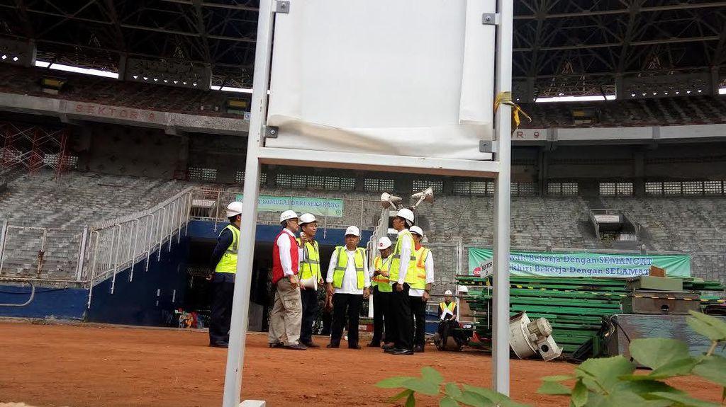 Presiden Jokowi Tinjau Pembangunan Arena Asian Games di GBK