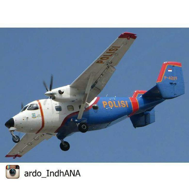 Ini Pesawat Skytruck Milik Polri yang Jatuh di Kepri