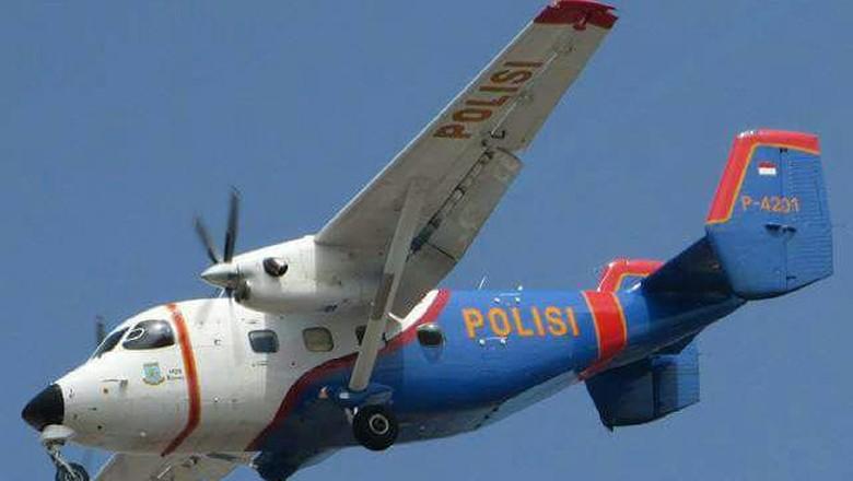 Ekor Pesawat Polri yang Jatuh di Kepri akan Dievakuasi Pagi Ini
