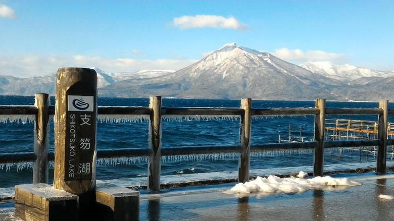 danau Shikotsu Toya yang tak pernah beku di jepang