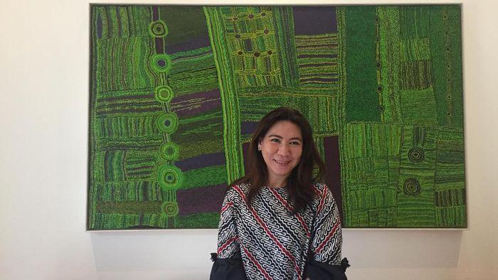 Kabid Binpres PP PBSI Susy Susanti apresiasi pencapaian Tontowi Ahmad/Winny Oktavina Kandow di Barcelona. (Femi Diah/detikSport)