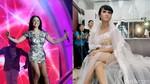 Penampilan Ayu Dewi Persik Bergaun Batik