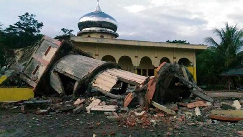 BMKG: Kekuatan Gempa di Pidie Jaya Aceh 6,5 SR