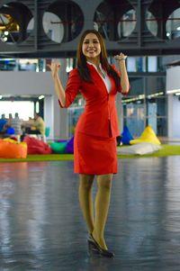 Pramugari Cantik di Markas Pusat AirAsia