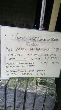 Mantan Menteri Keuangan Mar'ie Muhammad Wafat di RS Pusat Otak Nasional