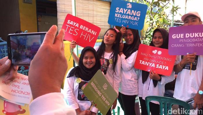 Kampanye tes HIV di Jakarta Utara (Foto: AN Uyung Pramudiardja/detikHealth)