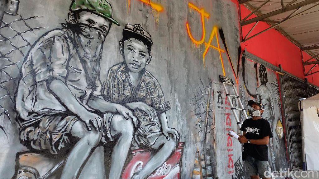 Grafiti Deja Vu dan Marsinah di Gudang Sarinah Ekosistem
