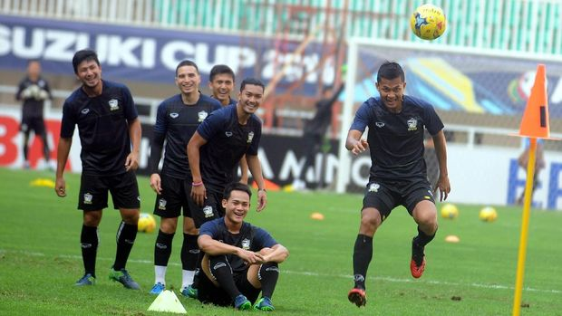 Timnas Thailand ketika bertandang ke Indonesia pada final Piala AFF 2018.
