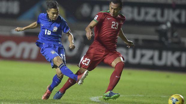 Timnas Indonesia tak pernah menang di kandang Thailand.