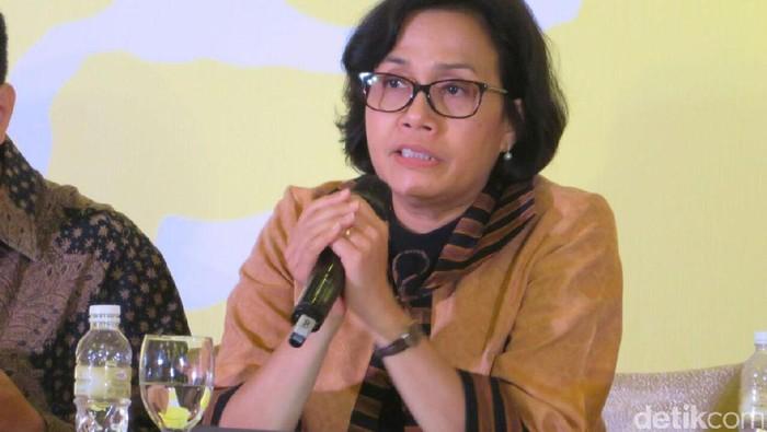 Menteri Keuangan Sri Mulyani Indrawati di acara diskusi energi, di Hotel Mulia