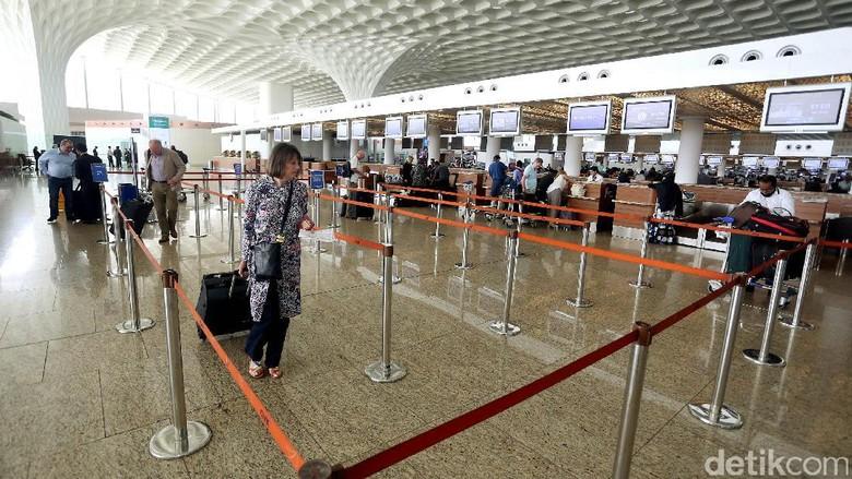 Bandara Internasional Chhatrapati Shivaj, di Mumbai, India, tampil dengan gaya modern dipadu warisan budaya India. Seperti apa? Yuk, intip foto-fotonya!