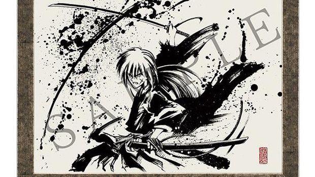 Lukisan tinta cair 'Rurouni Kenshin'