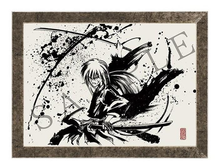 Lukisan tinta cair Rurouni Kenshin
