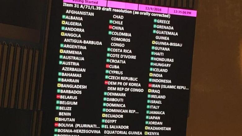 Meski Tidak Mengikat, Resolusi Majelis Umum PBB Memalukan Bagi AS