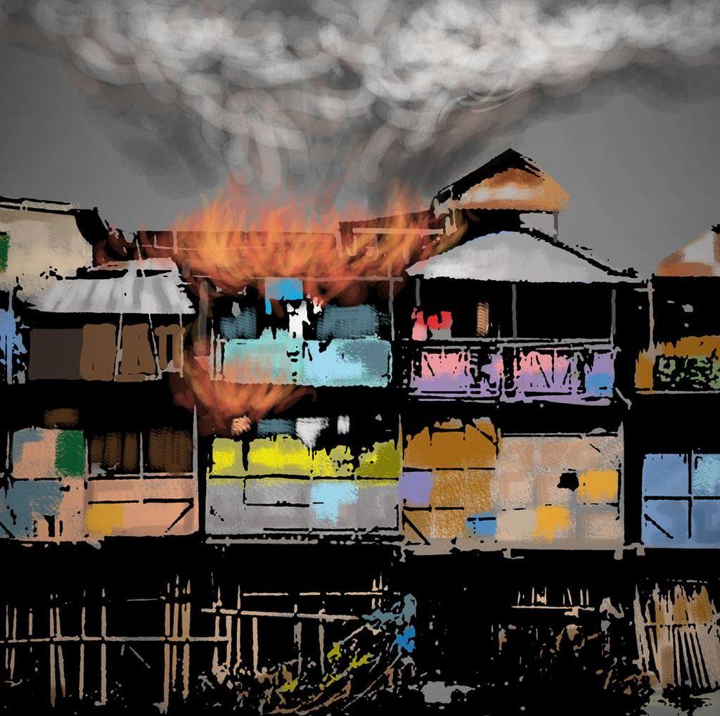 Kebakaran Hanguskan 15 Rumah di Tambora
