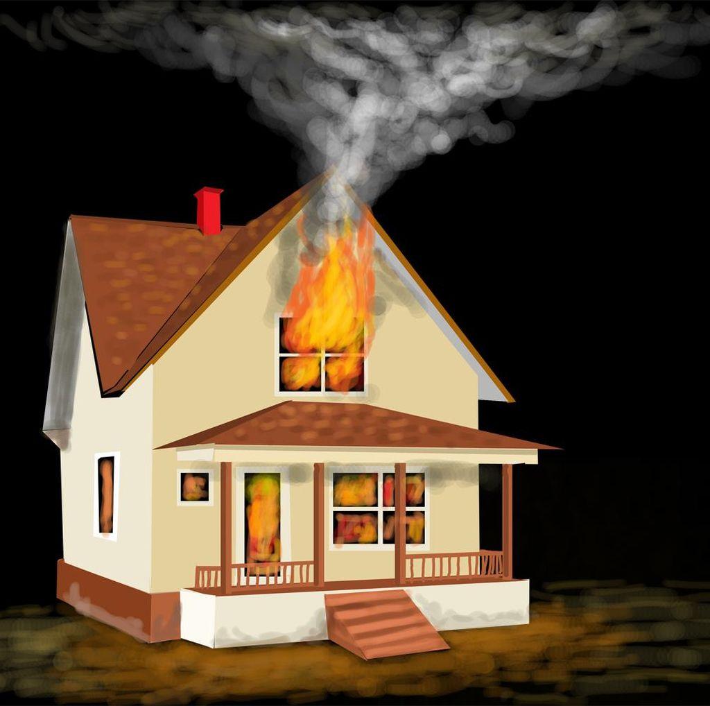 Kebakaran Rumah di Melawai Jaksel, 11 Mobil Pemadam DIkerahkan