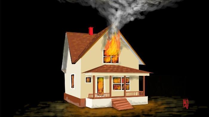Ilustrasi Kebakaran Rumah
