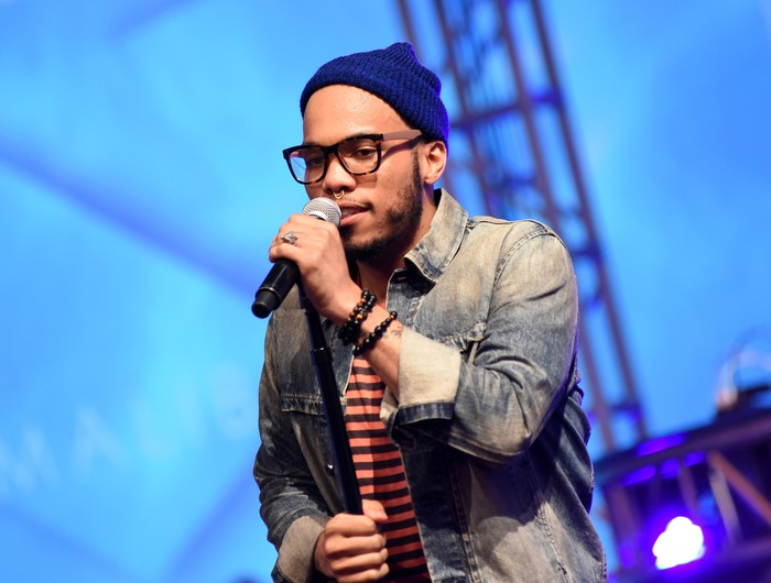 LOS ANGELES, CA - OCTOBER 27:  Anderson .Paak performs at Anderson .Paak and Free Nationals Band Live Performance Presented By The Virtual Reality Company at Mack Sennett Studios on October 27, 2015 in Los Angeles, California.  (Photo by Vivien Killilea/Getty Images for FYI Brand Communications)