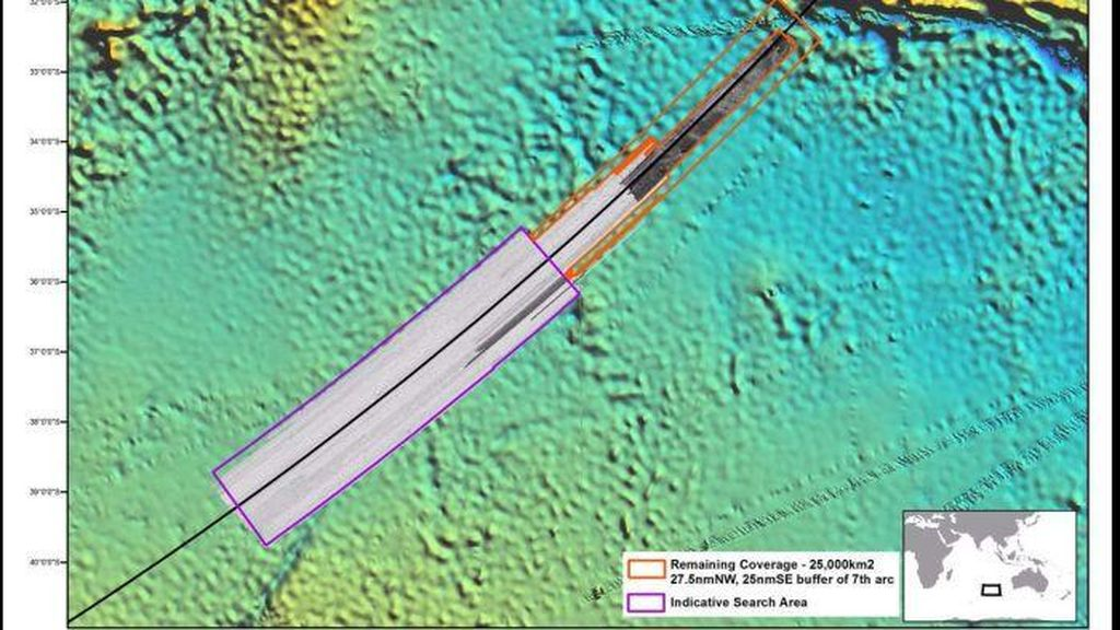 Pakar Temukan Area Baru Kemungkinan Lokasi MH370