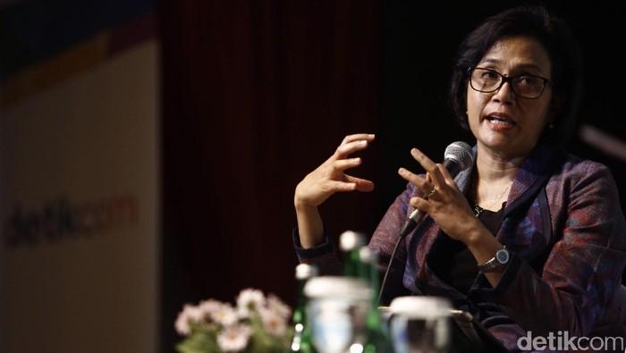 Menkeu Sri Mulyani bicara berbagai isu dalam dpreneur di Ice Pallace, Lotte Shopping Avenue, Jakarta, Rabu (21/12), termasuk target pertumbuhan ekonomi Indonesia.