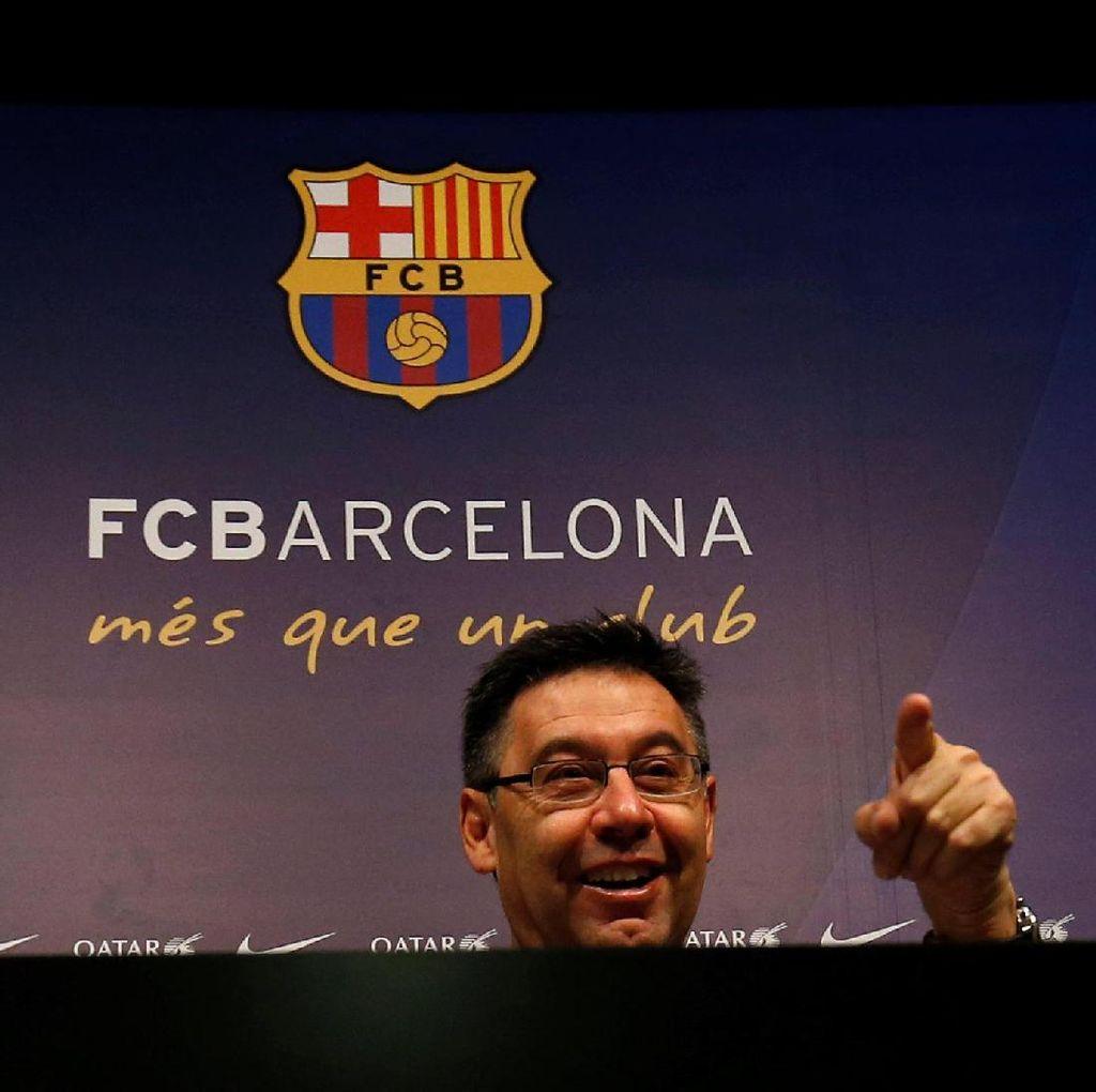 Presiden Barca Puas dengan Skuatnya di Tengah Rumor Pogba