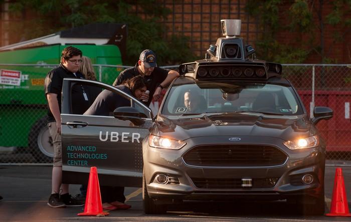 Ilustrasi mobil otonom Uber (Foto: Jeff Swensen - Gettyimages)