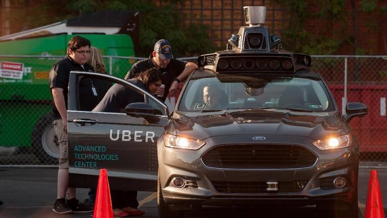 Ilustrasi mobil otonom Uber Foto: Jeff Swensen - Gettyimages