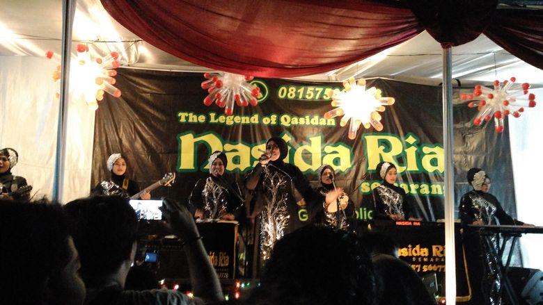 Nasida Ria memang sudah tidak asing lagi, sebab grup kasidah ituterbentuk sejak 1975. Foto: Dyah Paramita Saraswati