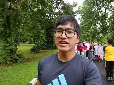 Presiden Jokowi lari sore bersama Kaesang