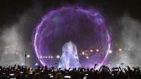 Mereka juga mendapatkan rekor untuk pertunjukan water projection terbesar di dunia dari Guiness World Records. Cedric Ribeiro/Getty Images for Dubai Festival City/detikFoto.