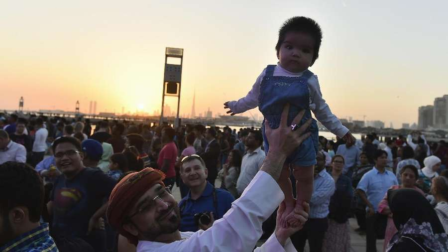 Wajah Bahagia di Dubai Festival City
